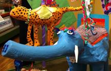 Giant papier machie carousel elephant-Beaver Area Heritage Museum